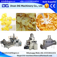 Frying crispy corn chips corn flakes making extruder machines
