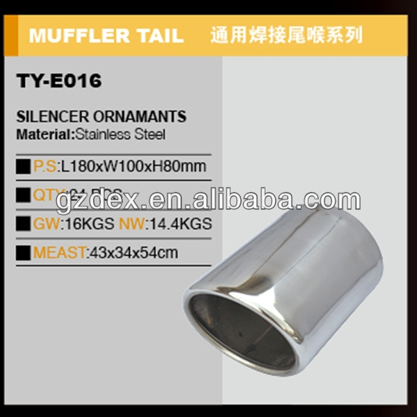auto tuning accessories universal stainless steel exhaust muffler tip