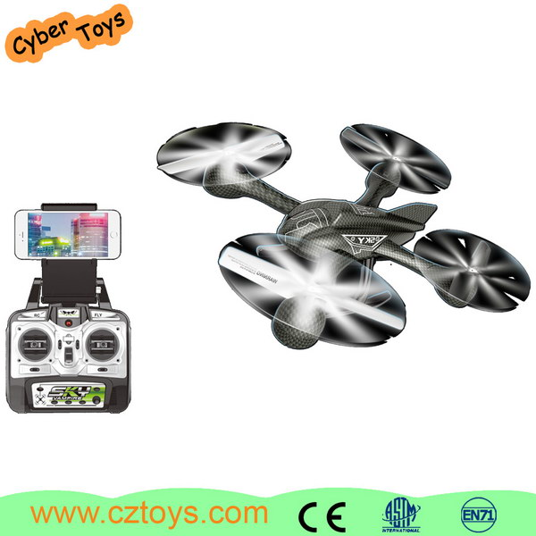 New 2.4G RC wifi control FPV 4 axis gyro drone with HD camerra for sale