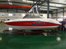 Professional FRP teak floor hot-sale yacht speed boat with price to sale