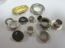 manufacturing various sizes galvanized metal eyelet/metal eyelets for canvas / metal oval eyelets