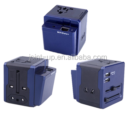 Worldwide USB Travel Adapter with US/AUS/EU/UK plugs to work as Wireless Router,Support RJ45 interface to share Wifi