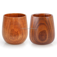 OXGIFT China Supplier Wholesale Manufacturing Factory Price Amazon Custom logo Big belly Jujube wooden coffee tea water mug <strong>cup</strong>