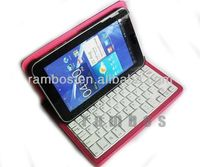 Wireless Bluetooth Keyboard with Swivel Rotary Stand Leather Case for ipad mini