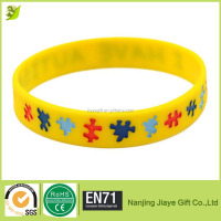 Custom Silicone Rubber Wristband Bracelet With