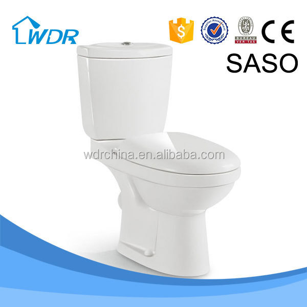 Sanitary ware washroom washdown two piece wall outlet toilet pots