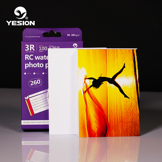 Yesion Resin Coated Photo Paper Supply, Hot Sale RC Luster Glossy Photo Paper 260gsm
