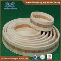 Promotional high quality wooden serving tray wooden plate