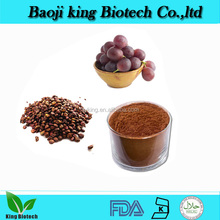 Organic High Quality water soluble Grape Seed Extract 95% Reddish brown fine Powder