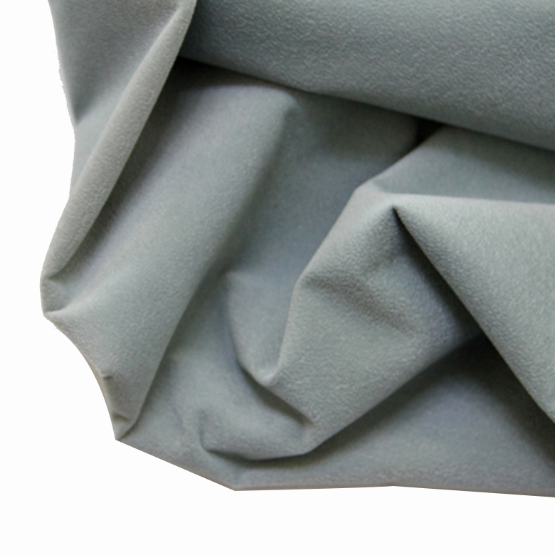 Focking grey cotton embossed fabric for clothes PF55-7
