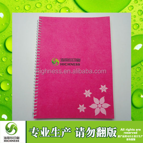 Cheap Price School Supplies Exercise Book and A5 120 Sheets Inner Pages Cloth Notebook