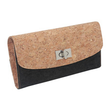 Boshiho soft cork leather envelope clutch handbag