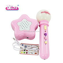 Hot sale kid handheld light up recording music microphone toy for promotion 5006