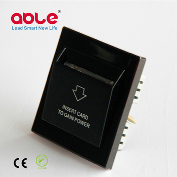 ABLE Black Hotel Energy Saving Card Switch