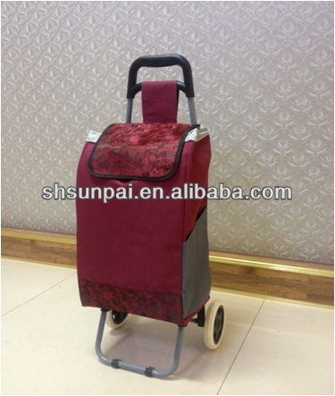 colorful personal foldable shopping cart for seniors