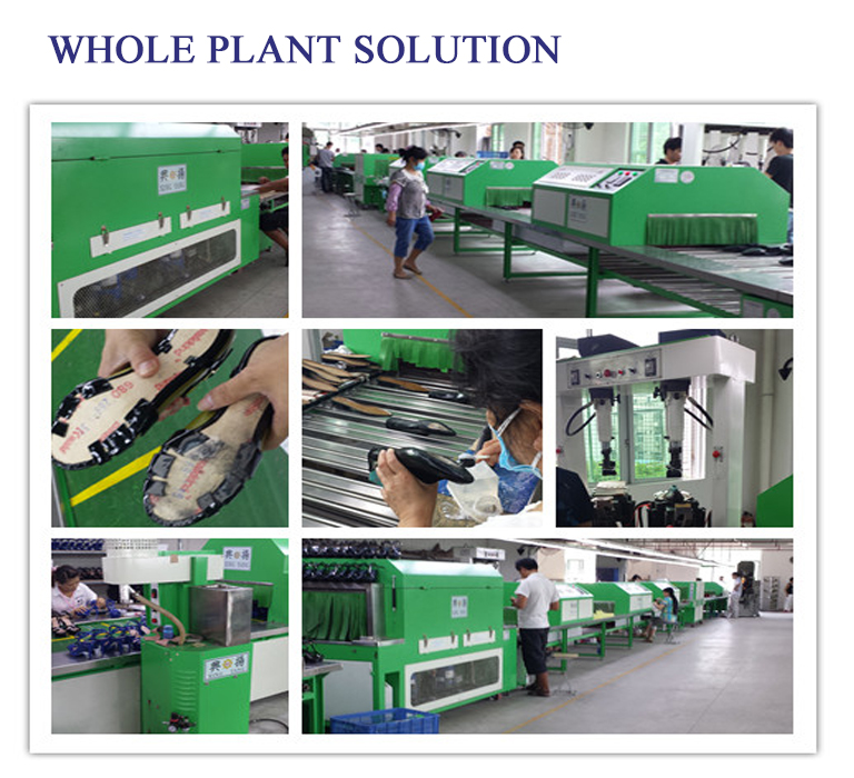 Outsloe Attaching And Assembling Conveyor Machine Shoes Production Line