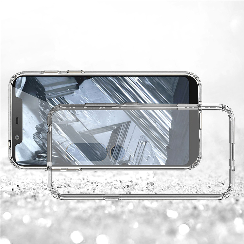 Clear Phone Case For Nokia 5.1 Plus For Nokia X5 100% Confirmed Right 2018 New Phone Case Cover for Nokia 5.1 Plus For Nokia X5 Crystal Clear Shockproof Protective Transparent Slim Fit Shell for Nokia 2018 BSCI Reach Rohs Factory Manufacturer Wholesale Phone Accessories