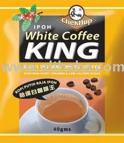 Chek Hup Ipoh White Coffee King - 3 in 1 instant white coffee.