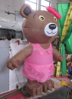 Lovely inflatable bear/pink/brown/10ft/custom/bear cartoon inflatable/inflatabel bear animal W459