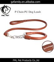 Pinch Dog Collar PU Leather Dog Collar And Leash Set