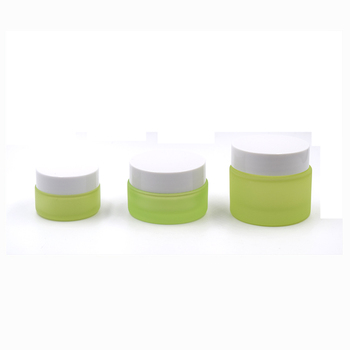 20g 30g 50g sweet frosted green glass cream jar cosmetic packaging