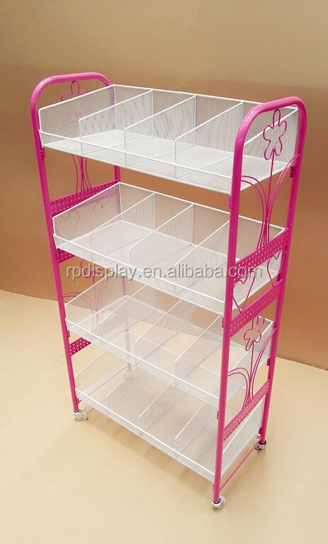 Cheap metal frame acrylic cube mask display stand for cosmetic store