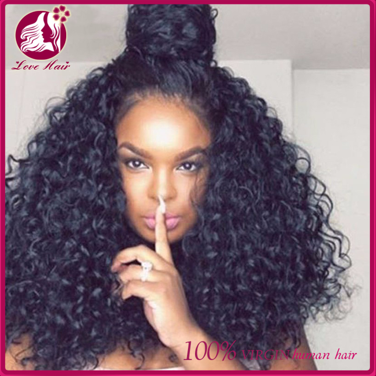 Natural Looking Virgin Brazilian Hair Lace Front Wig 100 Human Hair