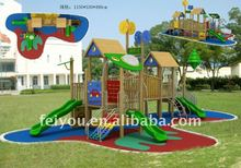 Professional manufacture for the wooden outdoor playhouse castle