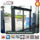 Exquisite Clear Glass Door Double Wing Fire Door For Party Tent