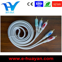 HIGH QUALITY 3RCA TRANSPARENT WHITE CABLE,AUDIO VIDEO CABLE