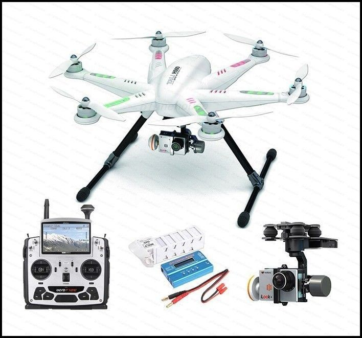 Walkera Tali H500 RTF FPV RC Drone Hexacopter for Gopro w/Brushless Gimbal and Devo F12E