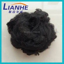 Black color polyester chemical fiber with silicon,recycled polyester fiber fill,cotton fiber