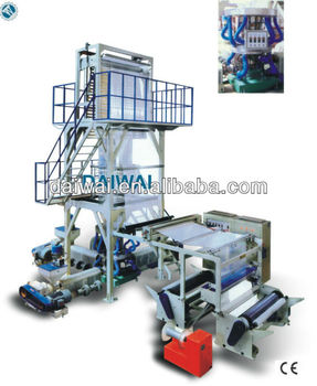 Plastic Extrusion Line/Three-Layer Co-Extrusion Blowing Film Machine/plastic extruder