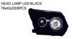 FOR NISSAN PATROL 02'-03' Auto Car head lamp head light LED BLACK