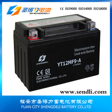 Good quality ytx9-bs motorcycle mf battery 12v 9ah