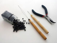 Tools for micro loop hair extensions pliers/ micro beads/needles