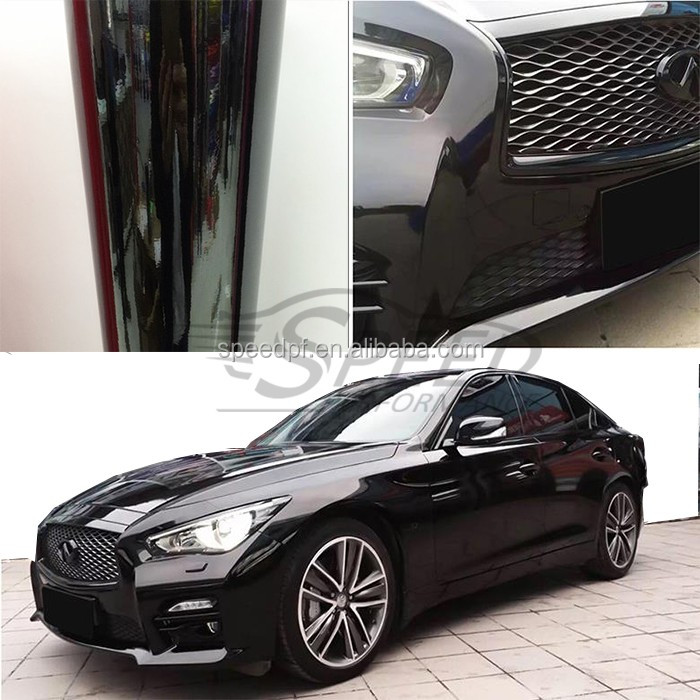 New Fashion Design Candy Color Changed Car Vinyl Wrap Gloss Black