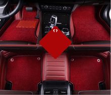 New Arrival Soft Durable Red Coil Car Floor Mat Clips 5D Car Foot Mats