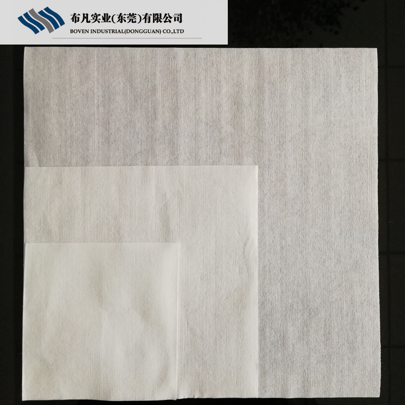 Boven Soft Absorbing 9*9 Inch Industrial Wipes Non Woven Wood Pulp SMT Electronic Cleanrom Paper 56gsm