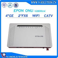 Gepon 2fxs + 4ge voip wifi onu optical fiber converter