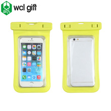 Soft cool cell phone sling cover PVC TPU waterproof dry cover phone waterproof cover ipx8 swimming