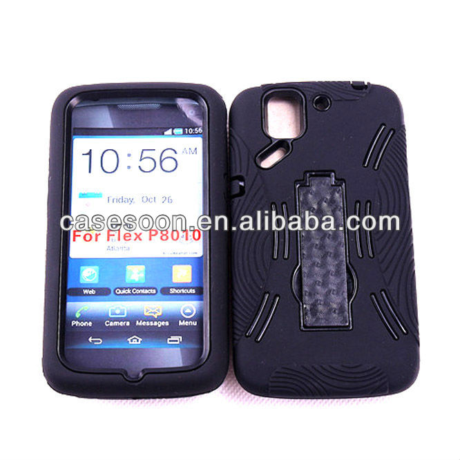 Mobile Phone Kickstand Double Layer Hard Cover Case for Pantech Flex P8010