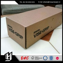 Custom different size carton packaging box with Kraft Paper or White Kraft