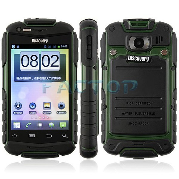 Celular Discovery V5 Waterproof Rugged 3.5 Inch Android Mobile Phone
