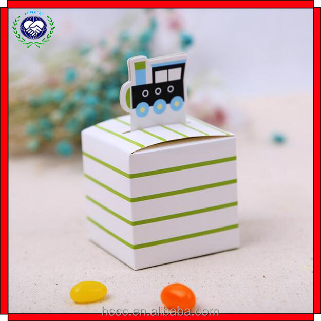 New Natural Style Freight Train Decorative Favor Box Candy Boxes for Baby Shower