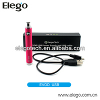 Multi Color E Cig Battery Top Selling EVOD Passthrough from Kanger with Micro USB Available