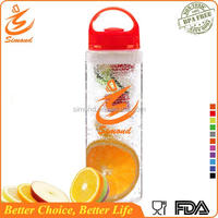 700ml hot selling bpa free plastic 32oz fruit infuser sport water bottle factory