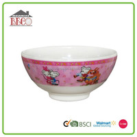 Japan style cheap colored plastic kids cake mixing bowl