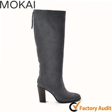 218-4 DK GRAY Women leather boots ladies handmade leather shoes