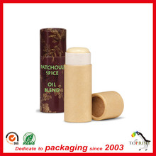 Custom Printing cute lip balm container Push up healthy paper tube package